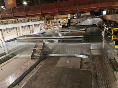 Modification ventilation et hotte sur machine à papier